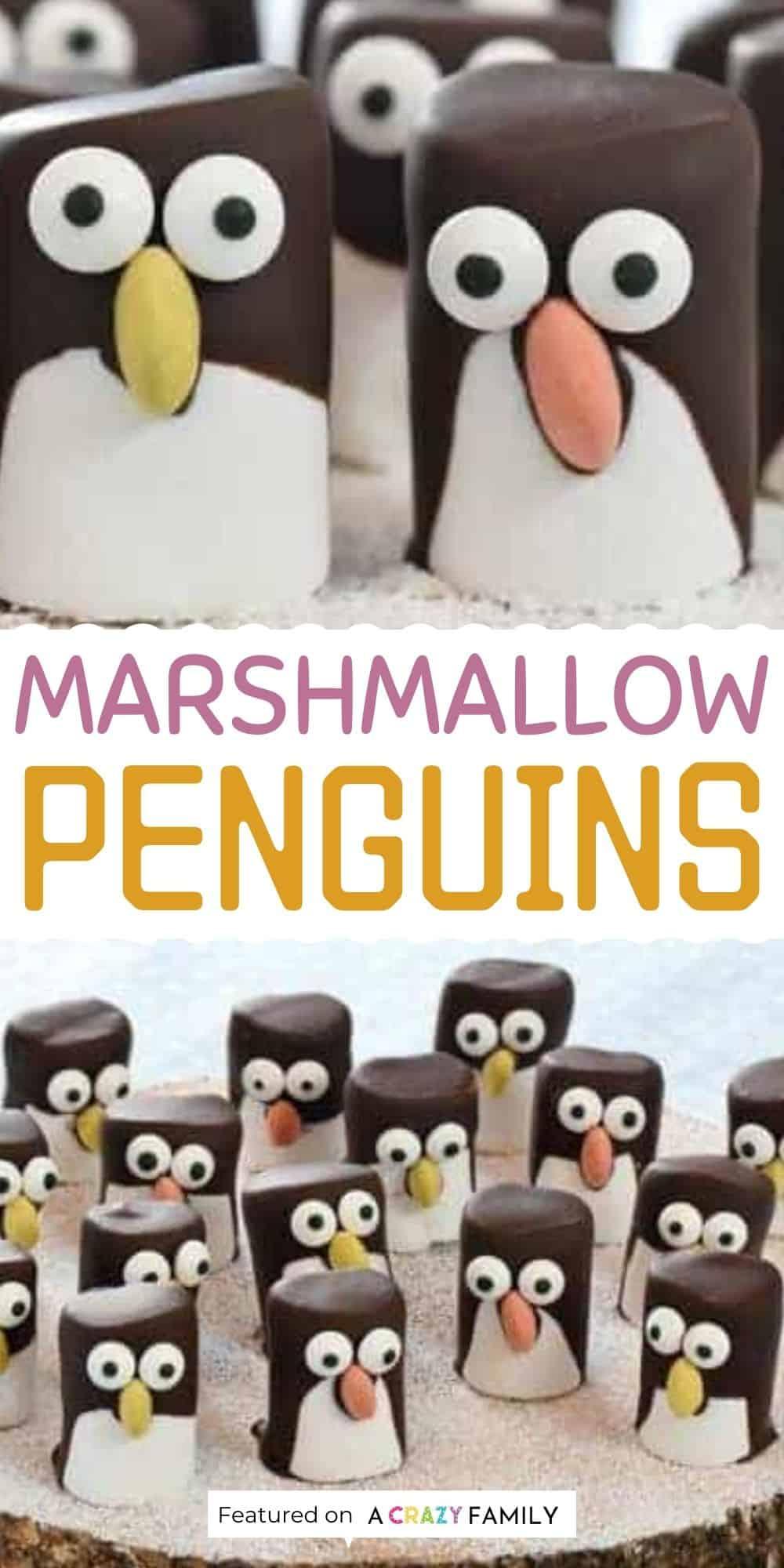 cute marshmallow penguins