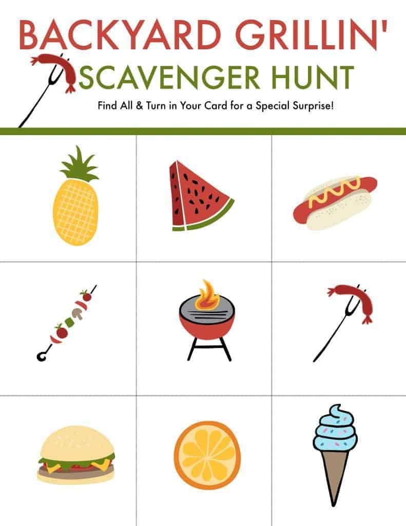 bbq scavenger hunt printable