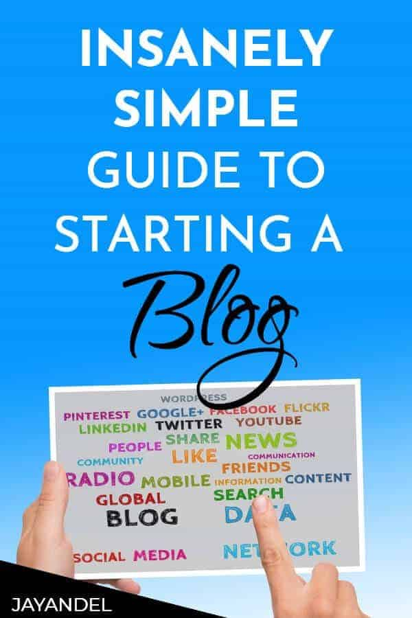 simple guide to a starting a blog