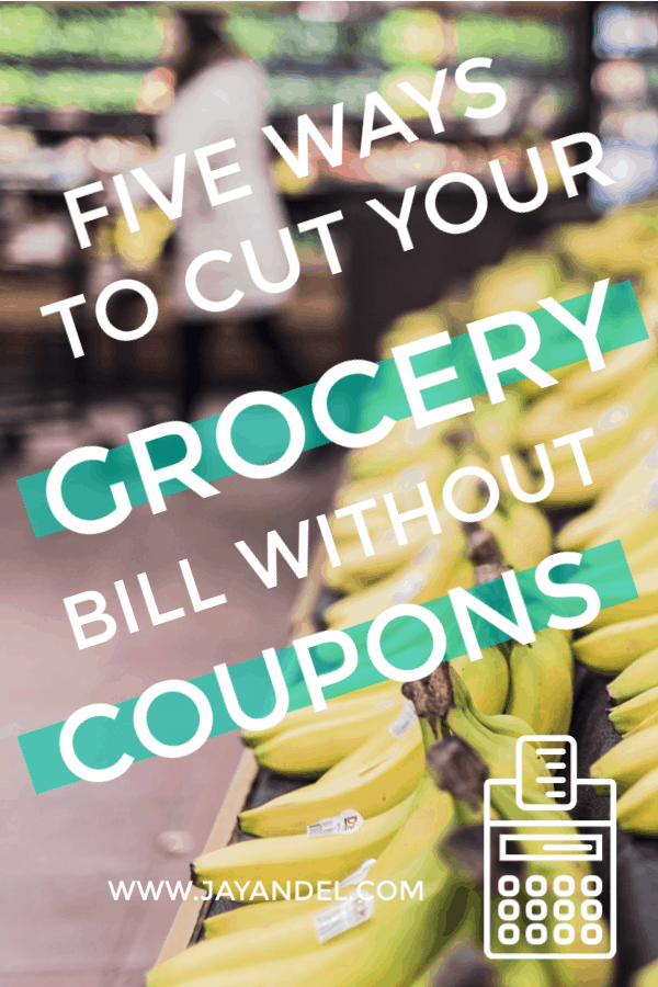 Take a look at my five ways to cut your grocery bill without coupons. Want to save money on your grocery bill, but without the hassle of couponing?