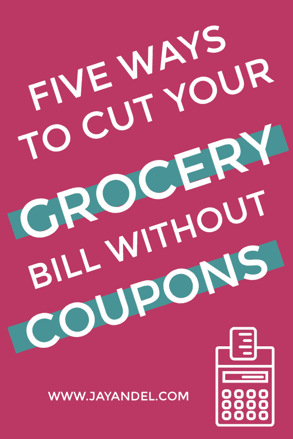 Take a look at my five ways to cut your grocery bill without coupons. Save hours and still save money