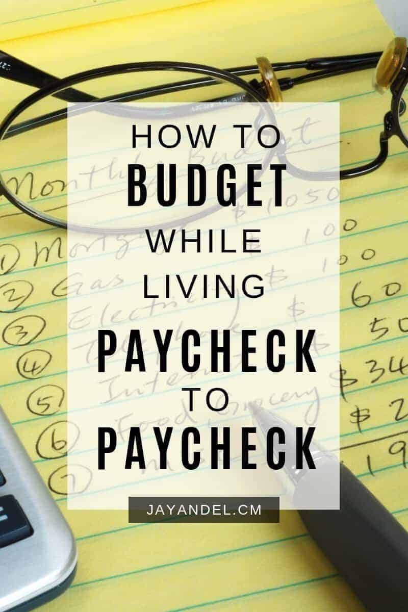 budget while living paycheck to paycheck