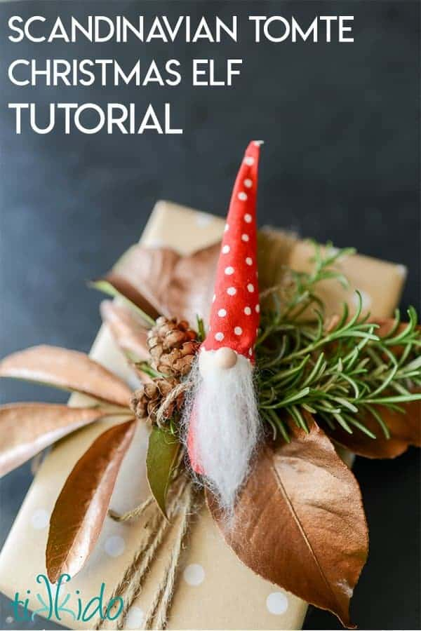 Scandinavian Tomte Christmas Elf Ornament Tutorial