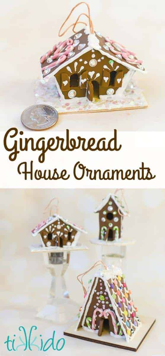 Gingerbread House Christmas Ornament Tutorial