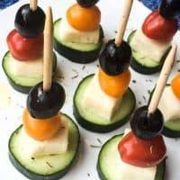 Quick & Easy Greek Salad Skewers