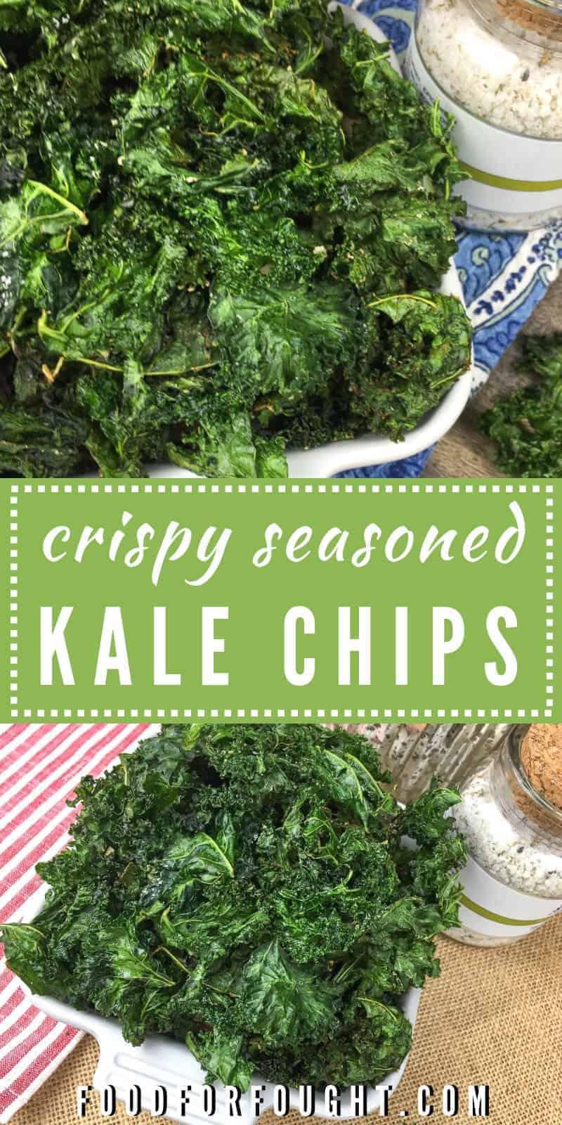 Crispy Seasoned Kale Chips Recipe on FoodForFought.com