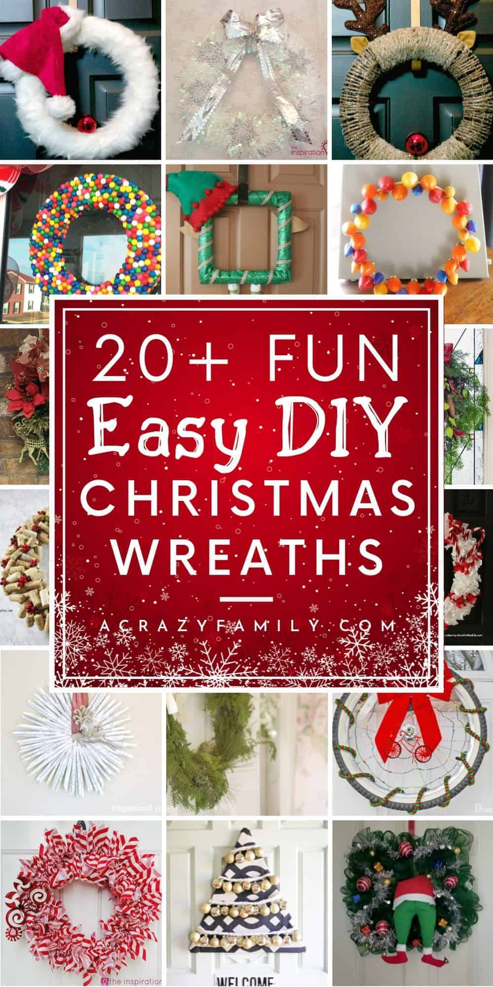 30 Super Easy Festive Diy Christmas Wreaths