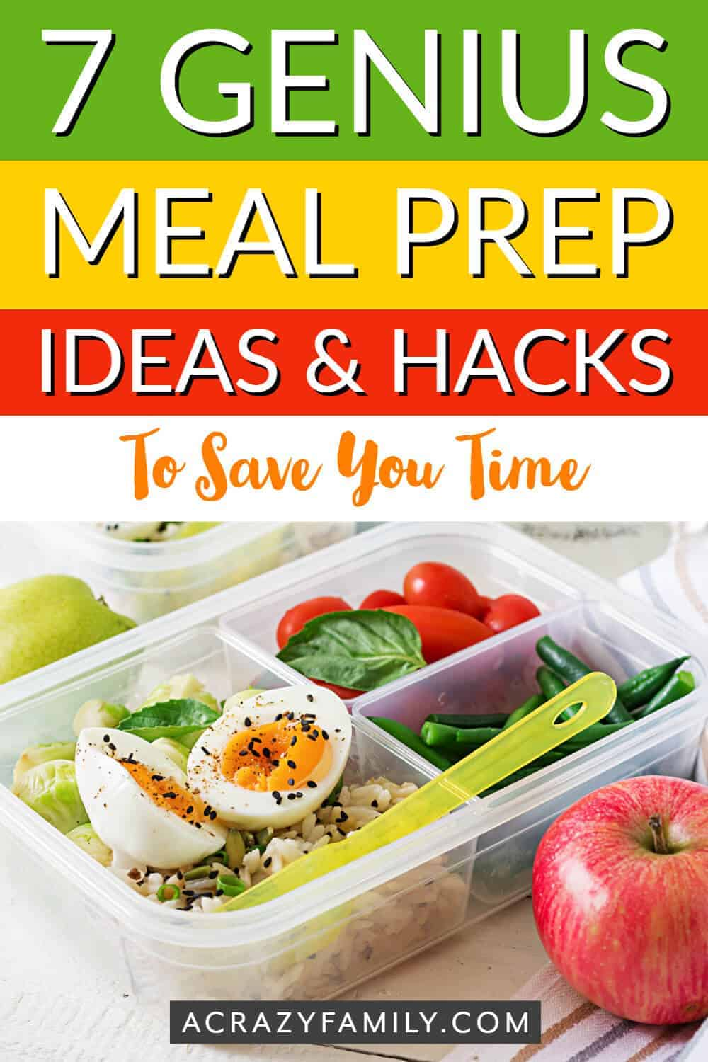 time-saving meal prep hacks