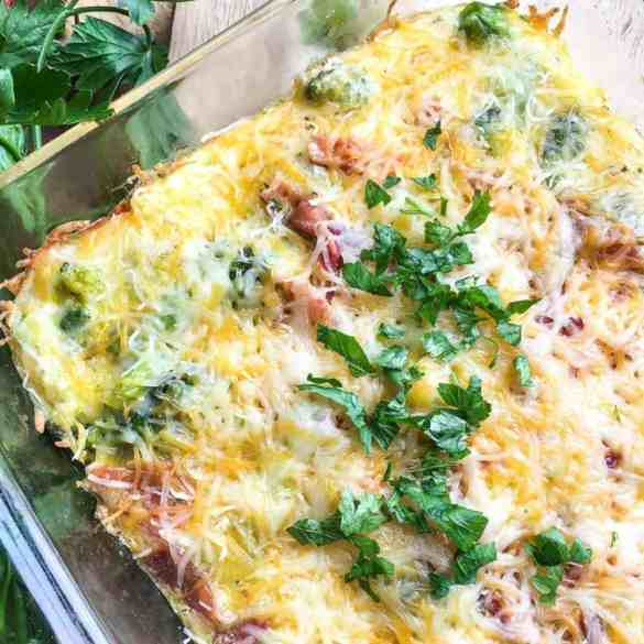 Bacon, Cheddar and Broccoli Casserole [Keto] [Low-Carb]