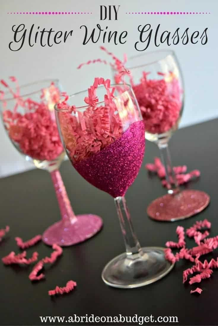 diy glitter wine glasses to make and sell