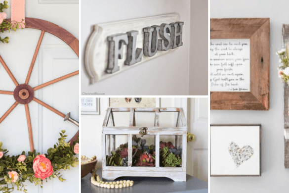 21 DIY Farmhouse Decor Ideas For Charming Rustic Decor
