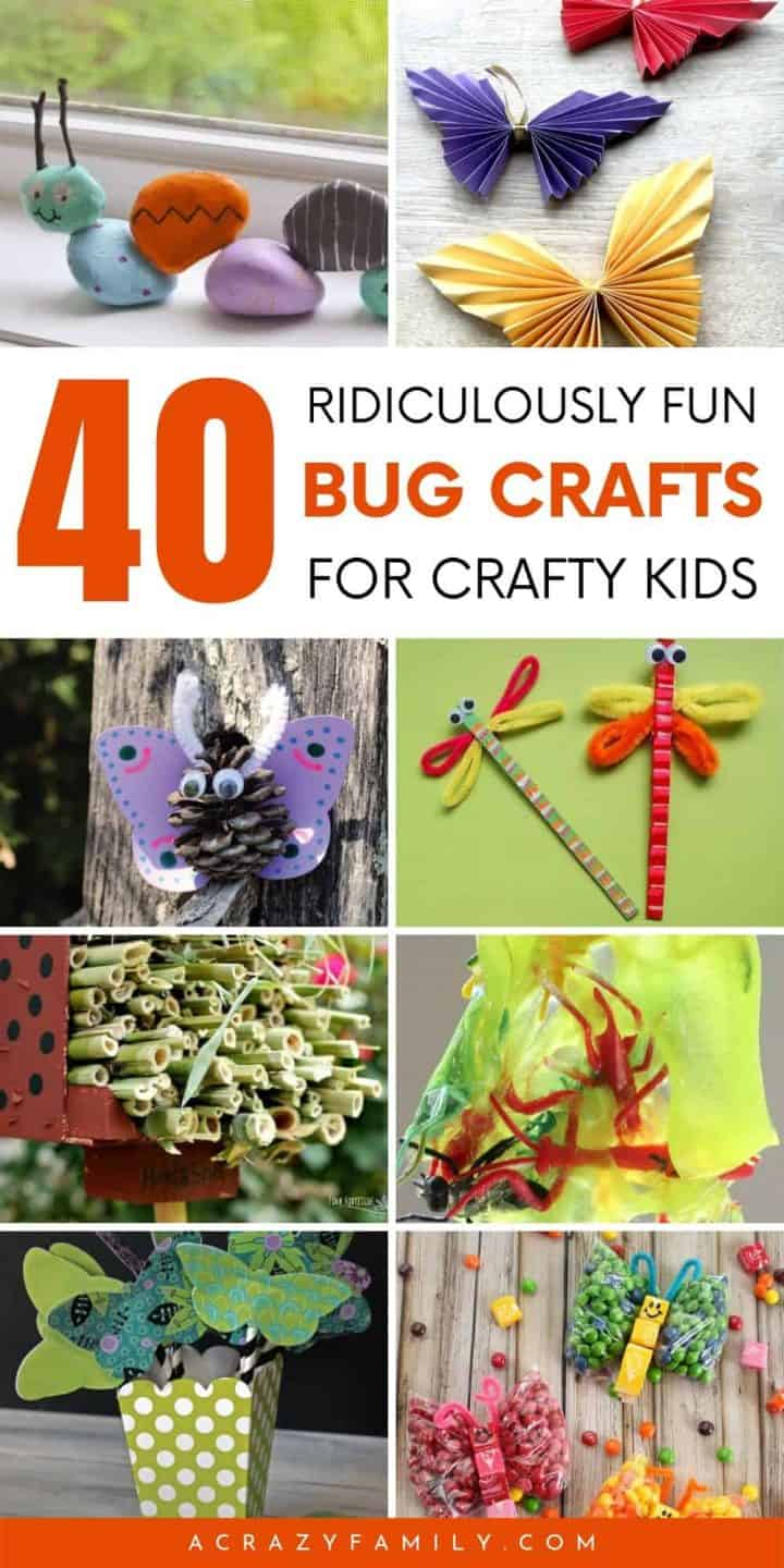40 Ridiculously Fun Bug Crafts for Kids