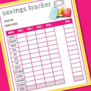 Free Printable Savings Tracker