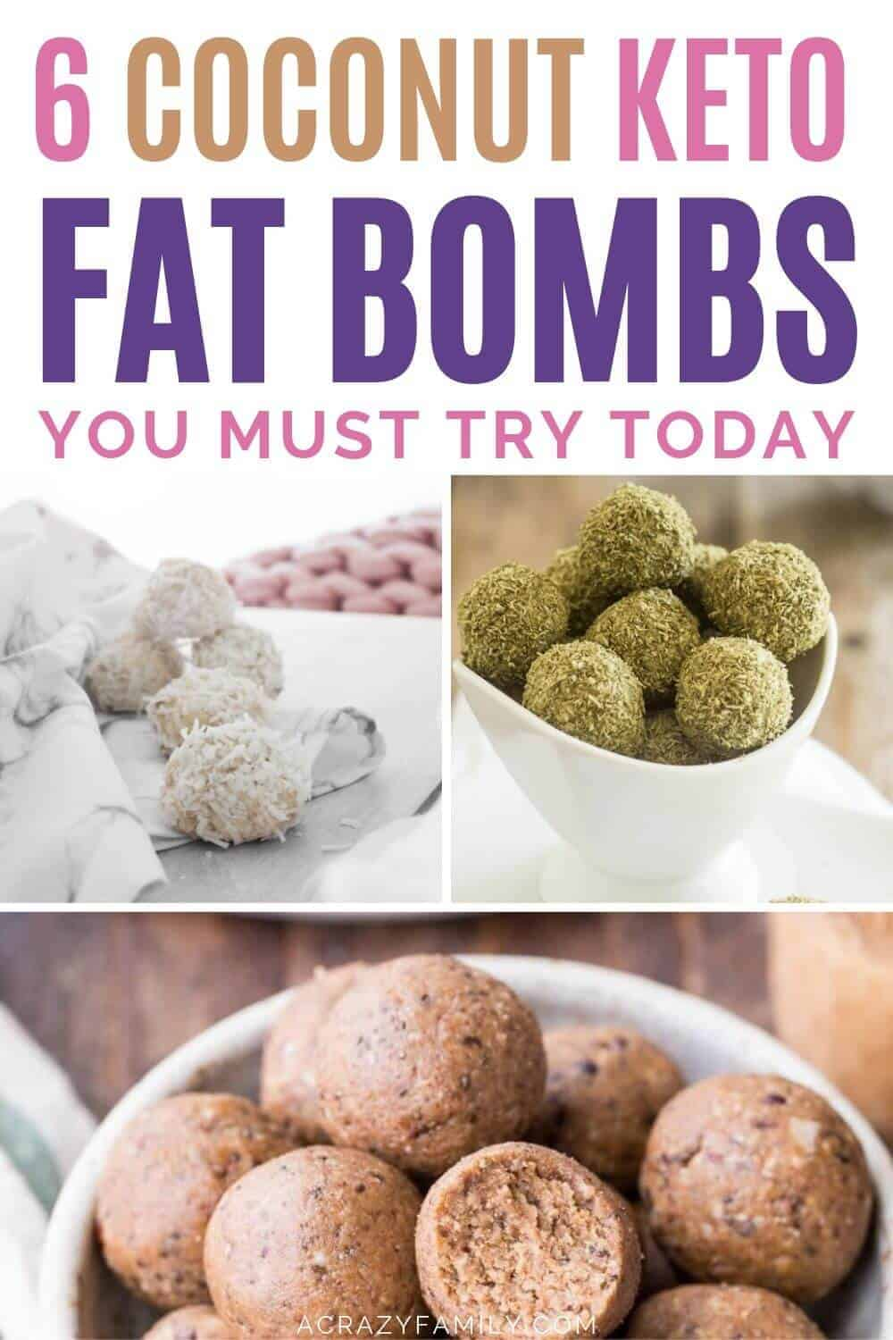 coconut flavored fat bombs