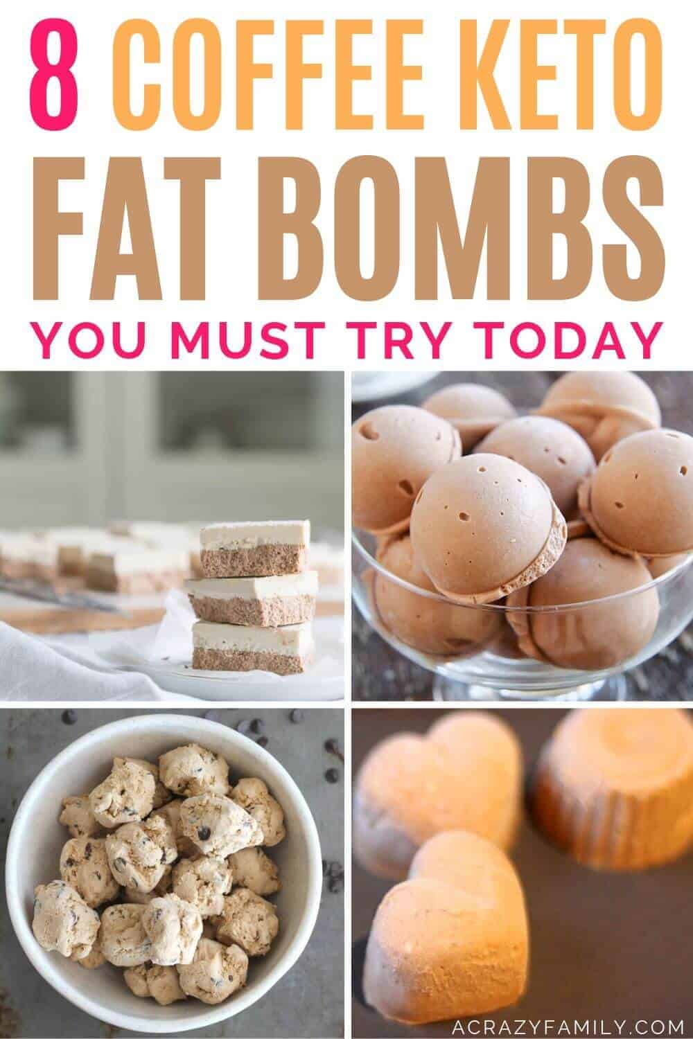 coffee-themed fat bombs