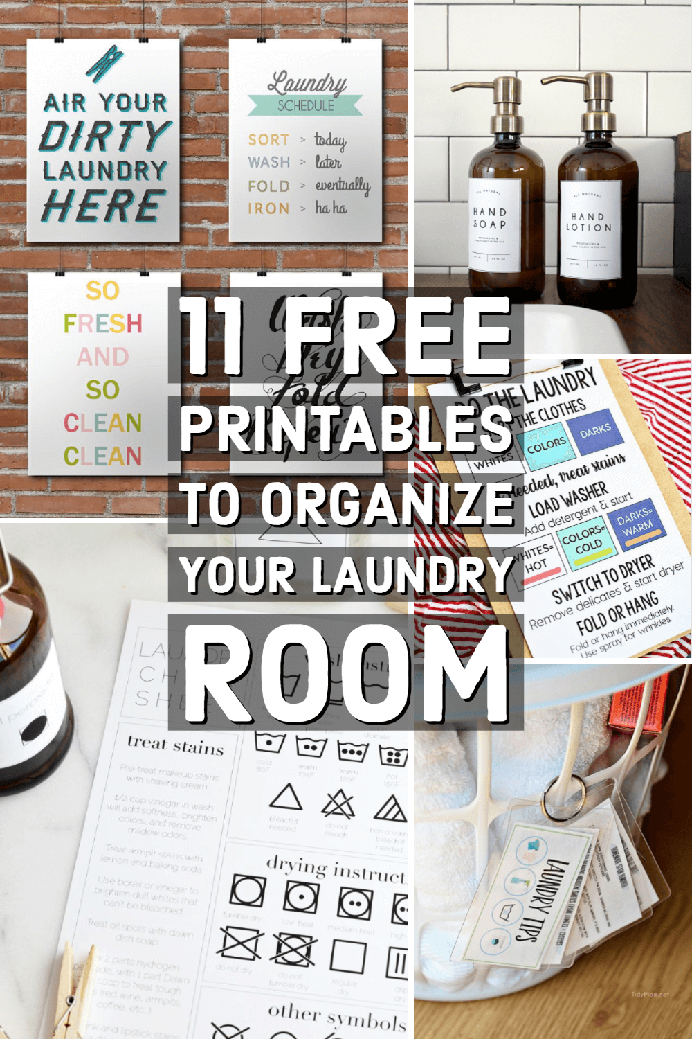11 Free Printables That Will Make Laundry Day Easier For