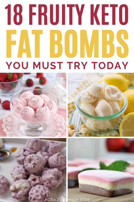 fruit themed keto fat bombs