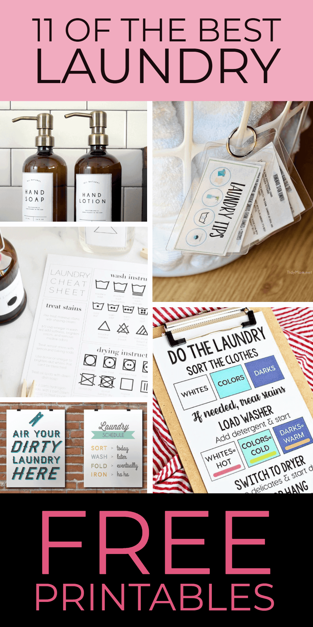 11 of the best laundry printables