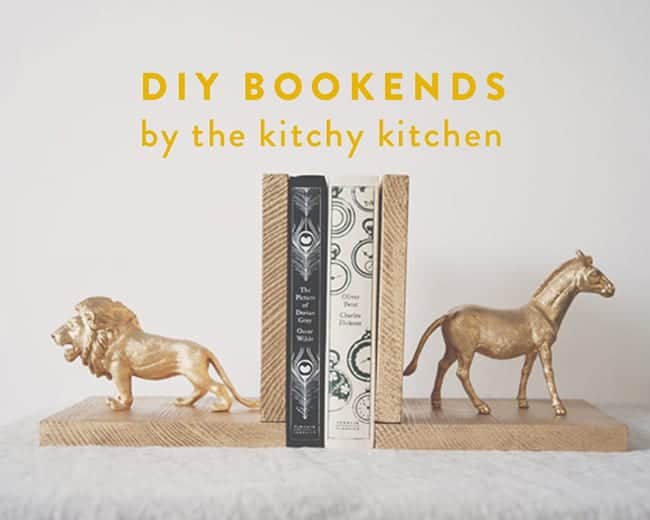 bookends, diy bookends, bookend projects, bookend DIYs, Diys,