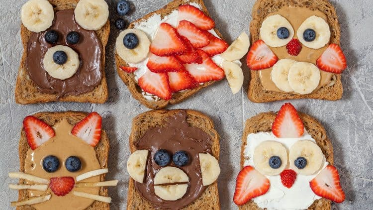 Animal Faces Toast Treats by All She Cooks