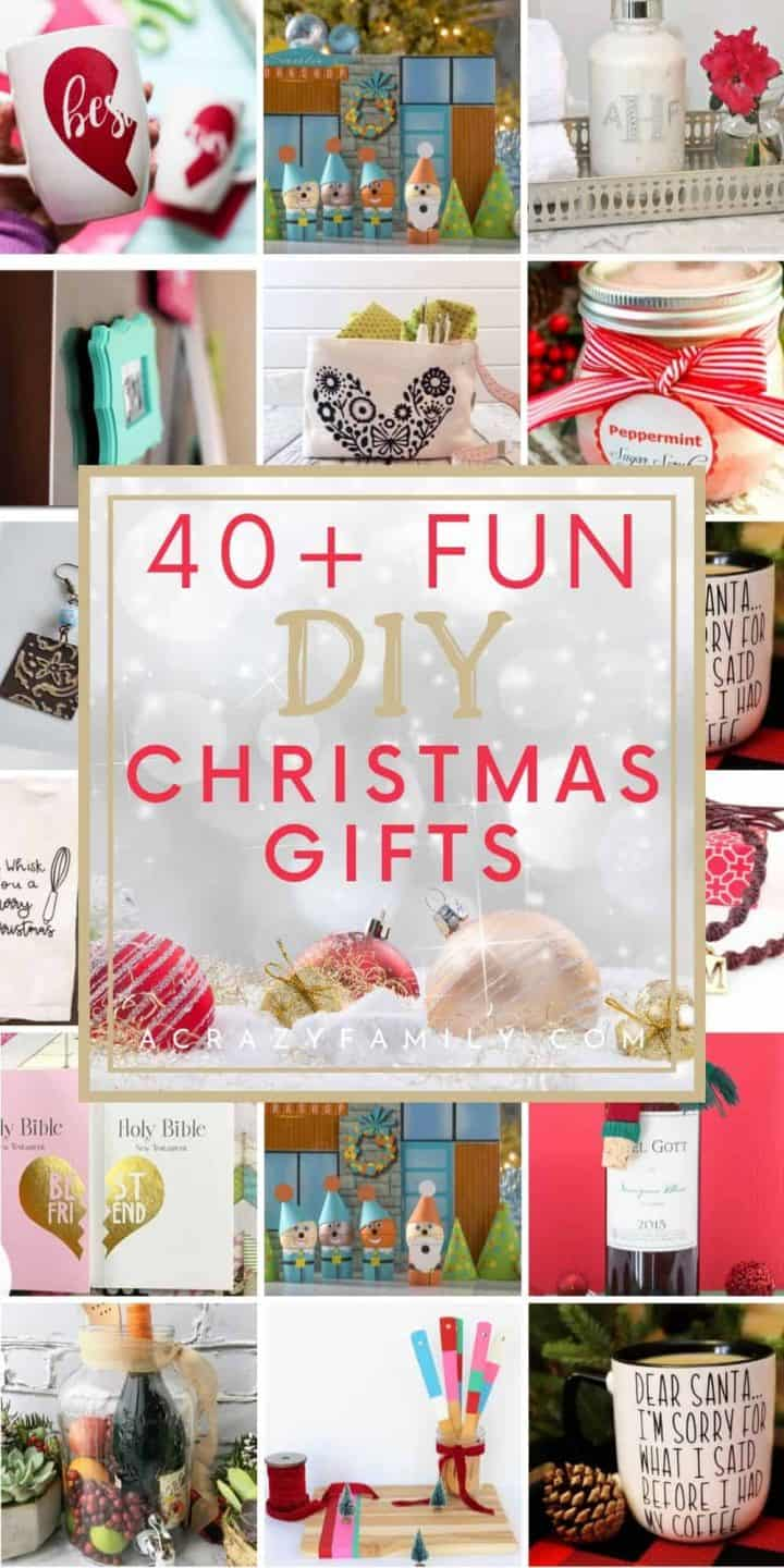 40+ Fun DIY Christmas Gifts Your Friends and Family Will Love!