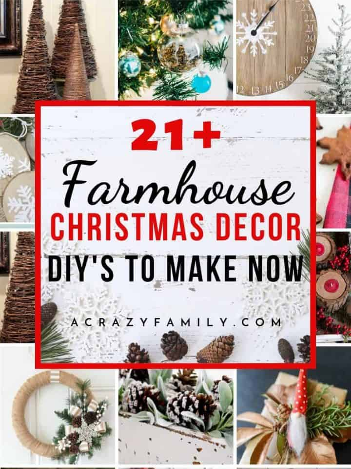 21+ Awesome Rustic Farmhouse Christmas Decorations to DIY