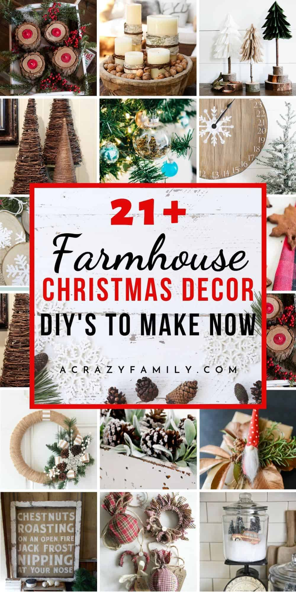 21 Awesome Rustic Farmhouse Christmas Decorations To Diy