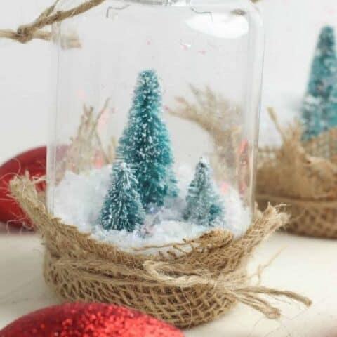 Rustic DIY Snow Globe Ornament For Your Farmhouse Christmas Tree