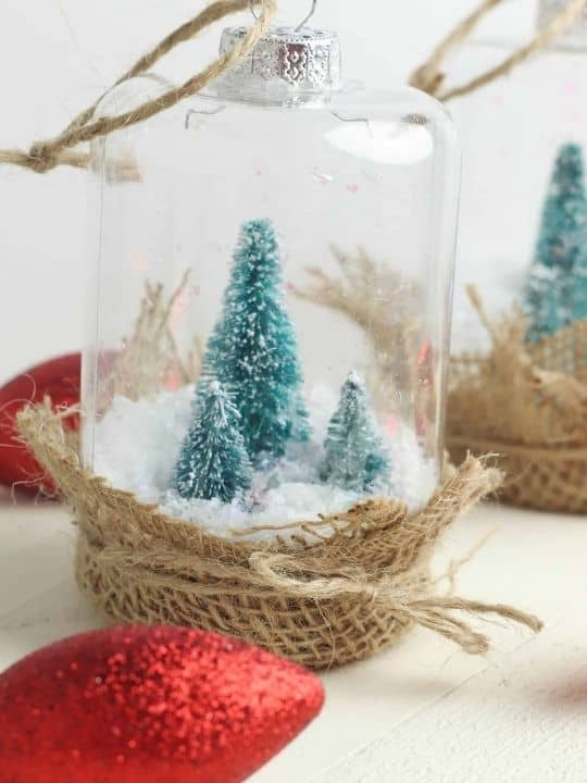 Rustic DIY Snow Globe Ornament For Your Farmhouse Christmas Tree
