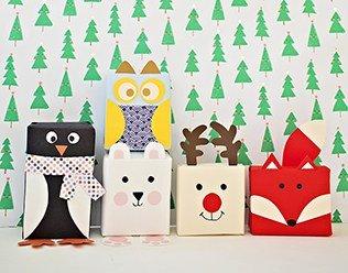 Holiday Animal Gift Wrap