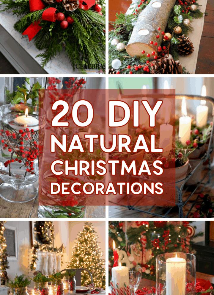 20 Gorgeous Natural DIY Christmas Decorations & Centrepieces