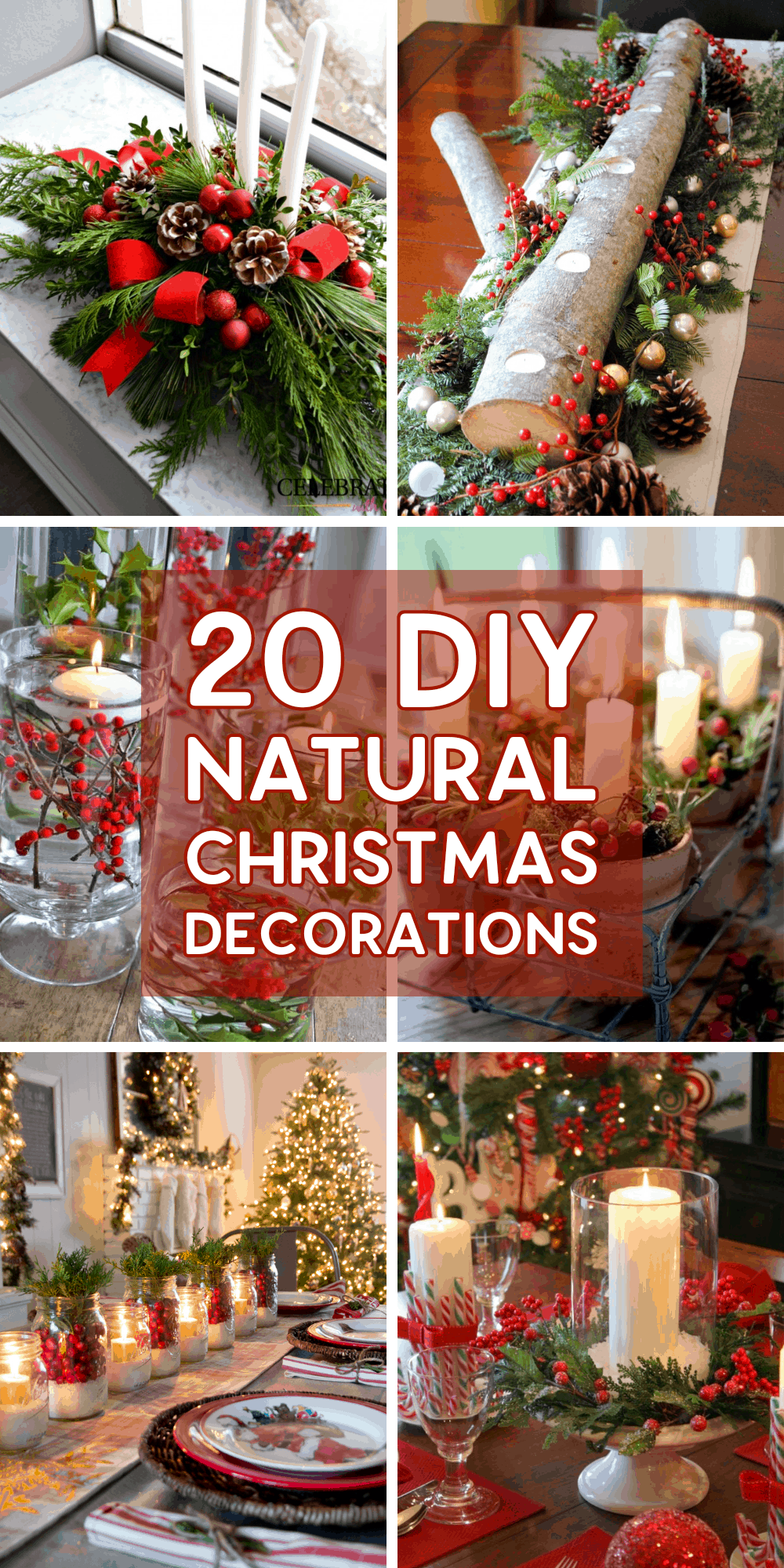 20 Gorgeous Natural DIY Christmas Decorations & Centrepieces