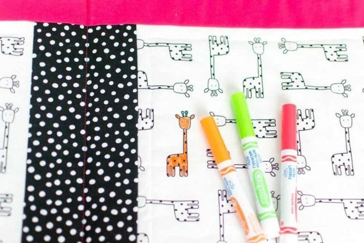 Washable Coloring Book to use Over and Over Again!