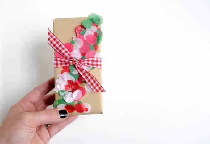 Confetti Christmas Gift Wrap