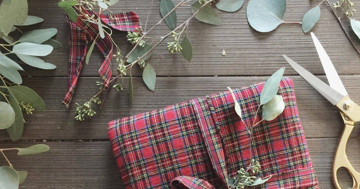 Old Flannel Blanket Wrapping