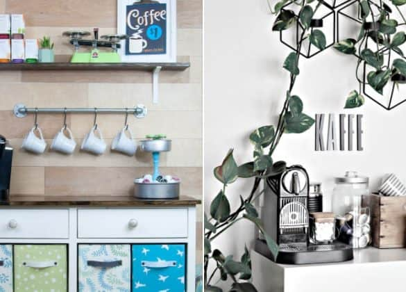 21 Best DIY Coffee Bar Ideas For Your Home
