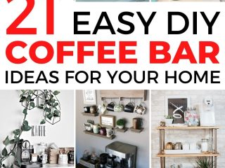 21+ Stylish DIY Coffee Bar Ideas and Stations For Coffee Lovers