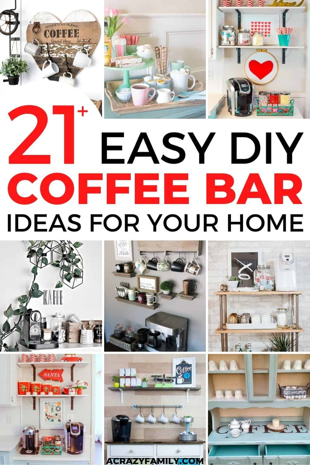 21+ Stylish DIY Coffee Bars to Add to Your Home