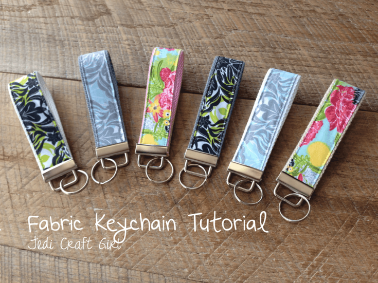 Fabric Key Chain Tutorial