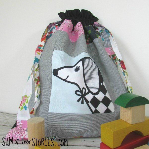 Drawstring Patchwork Toy Bag