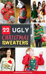 22 DIY Ugly Christmas Sweaters