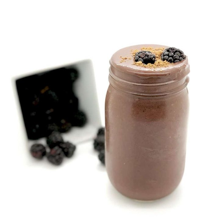 Beet, Blackberry, and Cacao Smoothie