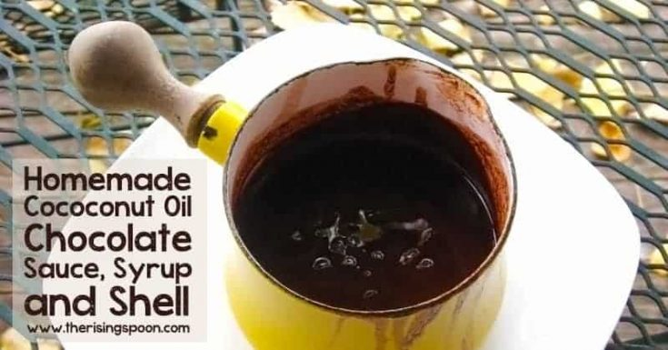 Homemade Coconut Oil Chocolate Sauce, Syrup and Shell