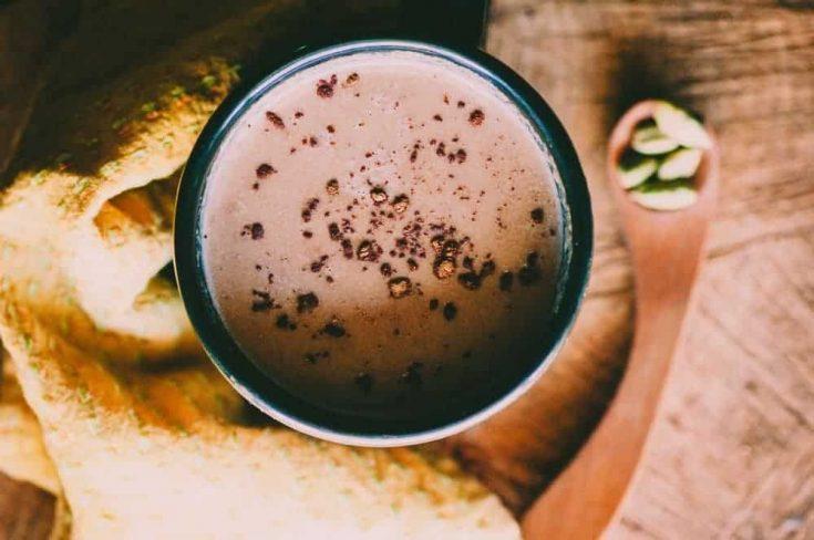 Hot Cacao with Cardamom + Tahini