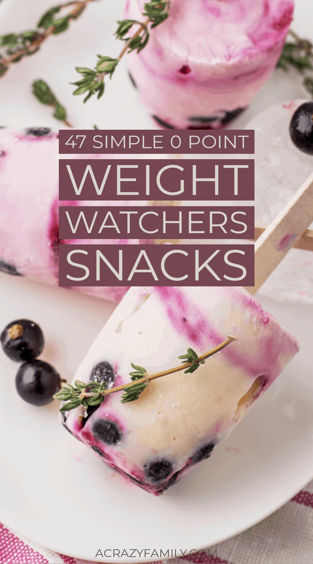 Zero point weight watchers snacks