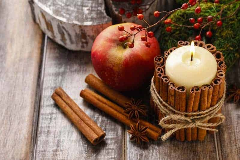 diy craft cinnamon candle