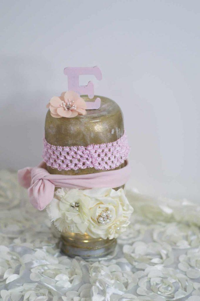 DIY mason jar headband holder