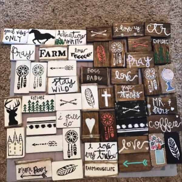 diy crafted wood magnets