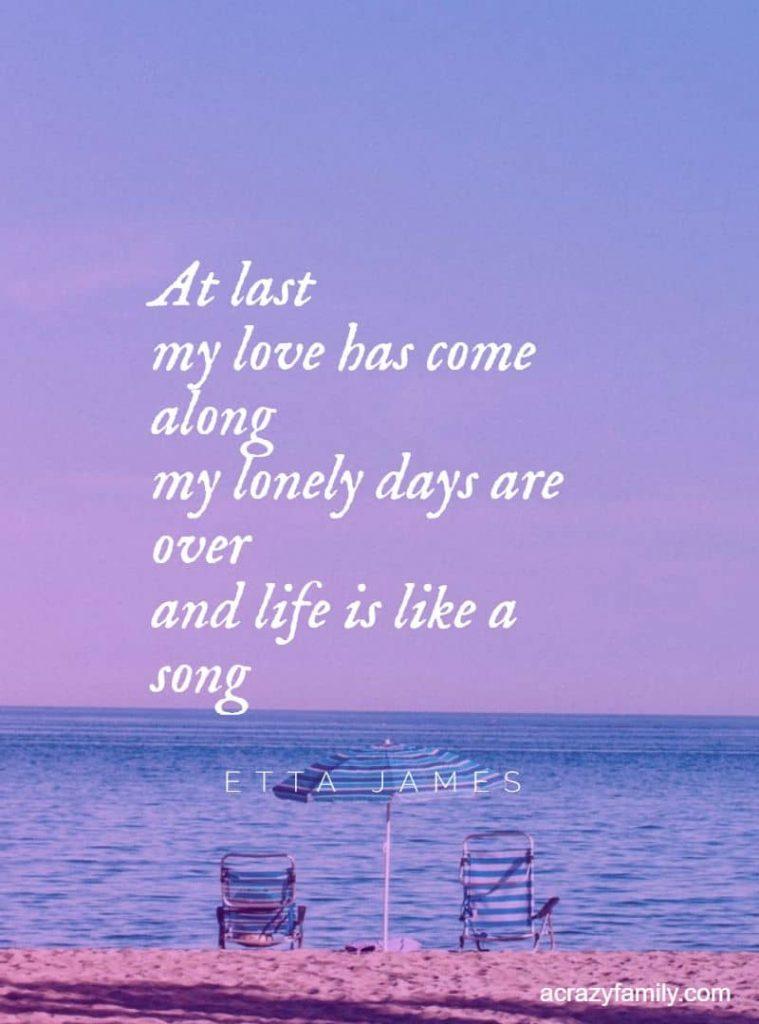 Etta James At Last song lyrics