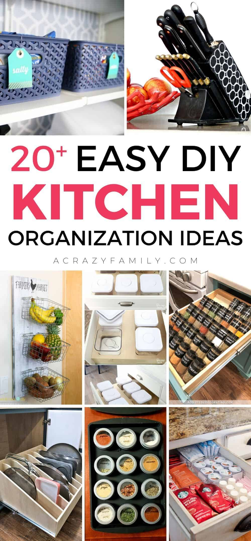 20 Mind Blowing Diy Kitchen Organization Hacks